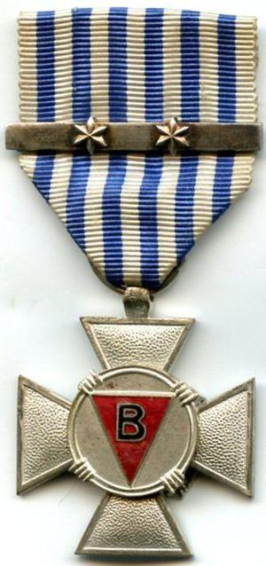 Political Prisoner's Cross 1940–1945 - Image: Croix du Prisonnier Politique 1940 1945