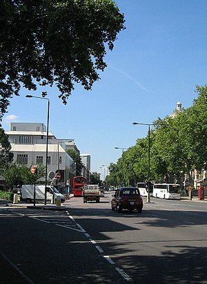Cromwell Road - Looking west down Cromwell Road from Cromwell Gardens.