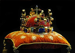Czech koruna - Crown of Saint Wenceslas, crown jewel of the Kingdom of Bohemia