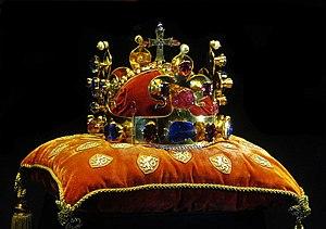 Czech koruna - Crown of Saint Wenceslas, crown jewel of the Kingdom of Bohemia