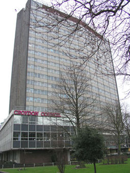 Croydon Council's offices were in Taberner House until September 2013 CroydonTabHouse.jpg