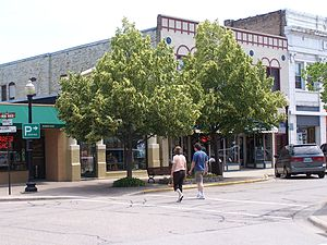 Crystal Lake, Illinois - Woodstock and Williams Streets in downtown Crystal Lake