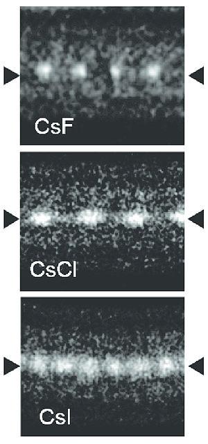 Caesium iodide - Image: Cs X@DWNT