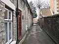 Cut through to the church from Hall Garth (2) - geograph.org.uk - 1778128.jpg