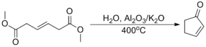 Cyclopentenone - Industrial synthesis of cyclopentenone