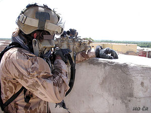 Bushmaster M4-type Carbine - Czech Special Operations soldier in Afghanistan with a Bushmaster M4A3