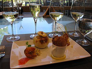 Degustation - A selection of dégustation dishes and wines