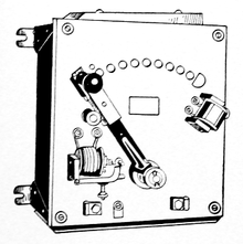 1917 dc motor manual starting rheostat with no-voltage and overload release  features