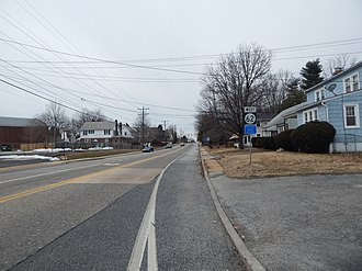 Delaware State Route System - DE 62 running west from DE 4 near Newport