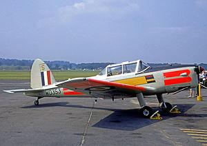 University of Birmingham Air Squadron - UBAS Chipmunk T.10 at RAF Shawbury in 1968