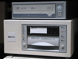 HP CD-brander en tapedrive