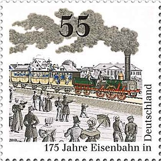 History of rail transport in Germany - 2010 postage stamp