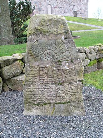 Jomsvikings - The Sjörup Runestone is generally associated with the Jomsviking attack on Uppsala, the Battle of the Fýrisvellir. It says:Saxi placed this stone in memory of Ásbjörn Tófi's/Tóki's son, his partner. He did not flee at Uppsala, but slaughtered as long as he had a weapon.
