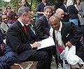 DSC 0146 Governor O'Malley, Delegate Hixson, Senator Raskin and Blessed Coffee founder, Tebabu Assefa. (6176445096).jpg