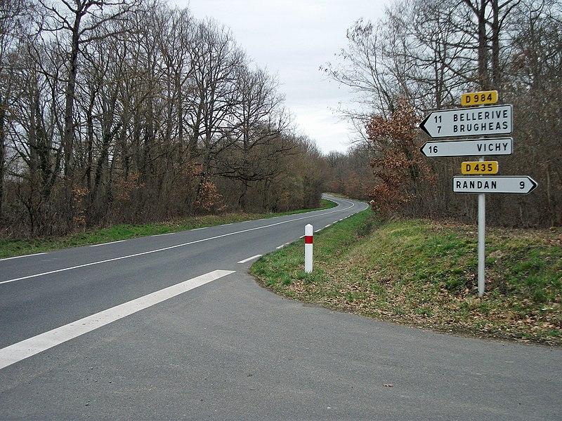 Departmental road 984 near Effiat, towards Vichy, boundary limit Puy-de-Dôme and Allier [10116]