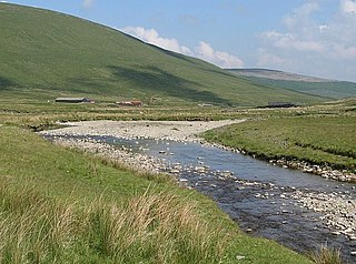 Daer Water river in the United Kingdom