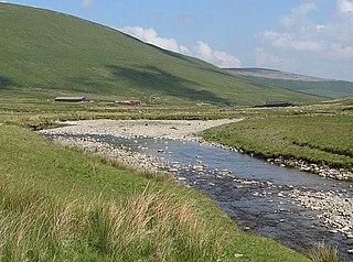 Daer Water River in Scotland
