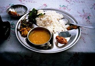 Dal bhat - Nepalese style Dal bhat Thali set in Kathmandu