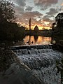 Dam And Sluices 5 Metres South West Of Pleasley Bridge (at sunset) (1).jpg
