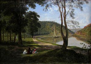 Avon Gorge - The Avon Gorge viewed from Ashton Meadow, by Francis Danby 1822