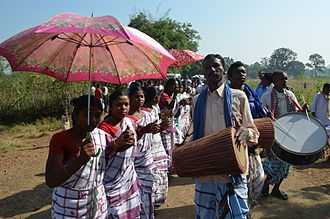Mayurbhanj State - Dance of the Santal people in the Mayurbhanj area.