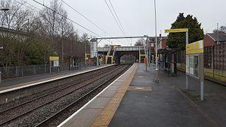 Dane Road tram stop Metrolink stop in South Manchester
