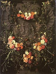 Saint Catherine of Siena Surrounded by a Garland of Flowers