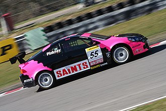 David Pinkney - Pinkney's black-and-pink Honda Integra at the Brands Hatch round of the 2006 British Touring Car Championship.