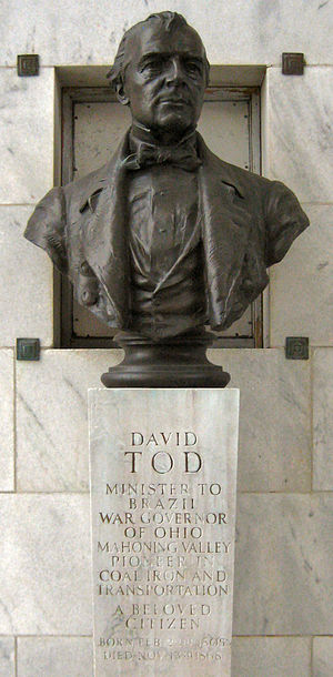 David Tod - David Tod bust inside the National McKinley Birthplace Memorial