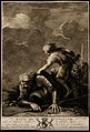David in combat with Goliath. Aquatint by R. Earlom, 1766, a Wellcome V0007105.jpg