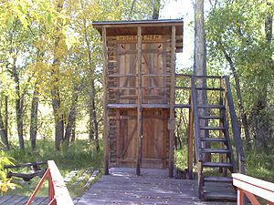 Encampment, Wyoming - Double decker outhouse at the Grand Encampment Museum