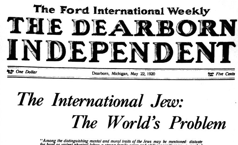 Dearborn Independent antisemitic