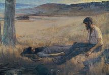 Artist's depiction of Burke's death