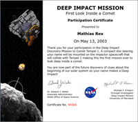 Deep Impact Discovery Mission to Comet Tempel 1