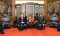 Defense.gov News Photo 110110-F-6655M-023 - Secretary of Defense Robert M. Gates and Chinese Vice Chairman Central Military Commission Gen. Xu Caiho meet prior to a dinner at the Great Hall.jpg