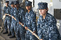 Defense.gov News Photo 120613-N-KS651-301 - Sailors handle a mooring line aboard the USS Pearl Harbor LSD 52 as the ship moors to a pier in Pearl Harbor Hawaii on June 13 2012. The.jpg