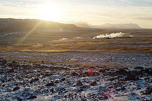 Reykholt, Western Iceland - Reykholtsdalur with Deildartunguhver
