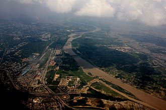 Hazrat Nizamuddin railway station - Hazrat Nizamuddin railway station in Delhi aerial view