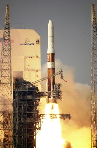 Graphite-Epoxy Motor - A Boeing Delta IV launching with two GEM-60 solid motors.
