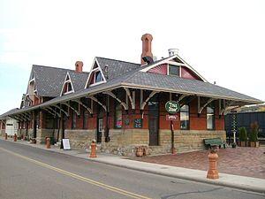 Dennison, Ohio - The old Pennsylvania Railroad Depot, a National Historic Landmark