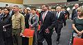 Deputy Secretary of Defense Ash Carter, center, arrives with Secretary of Defense Chuck Hagel, center right, for a farewell ceremony for Carter at the Pentagon in Arlington, Va., Dec. 2, 2013 131202-D-NI589-599.jpg
