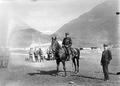 Der internierte französische Flieger Gilbert zu Pferd - CH-BAR - 3241669.tif
