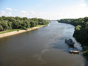 Desna River - The Desna River flows through Chernihiv, Ukraine.