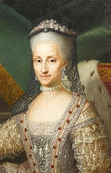 Detail of a Mengs portrait of the Queen of Sardinia (1729-1785).jpg