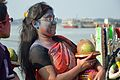 Devotee - Durga Idol Immersion Ceremony - Baja Kadamtala Ghat - Kolkata 2012-10-24 1535.JPG