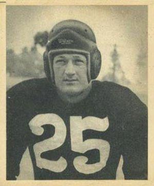 Dick Poillon - Poillon on a 1948 Bowman football card