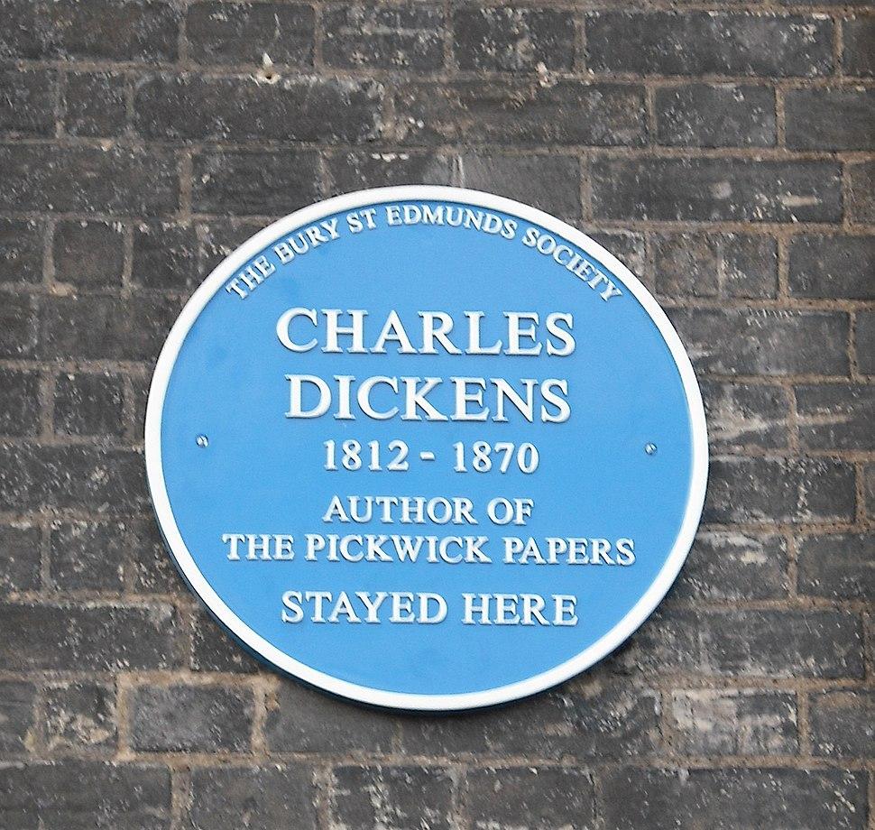 Dickens plaque, Angel Hotel 1