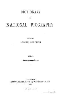 Dictionary of National Biography volume 01.djvu