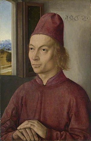 Dieric Bouts - Portrait of a Man (Jan van Winckele?)  (1462), National Gallery, London
