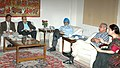 Digambar Kamat, along with senior officials meeting with the Deputy Chairman, Planning Commission, Shri Montek Singh Ahluwalia to finalize annual plan 2007-08 of the State, in New Delhi on October 23, 2007.jpg